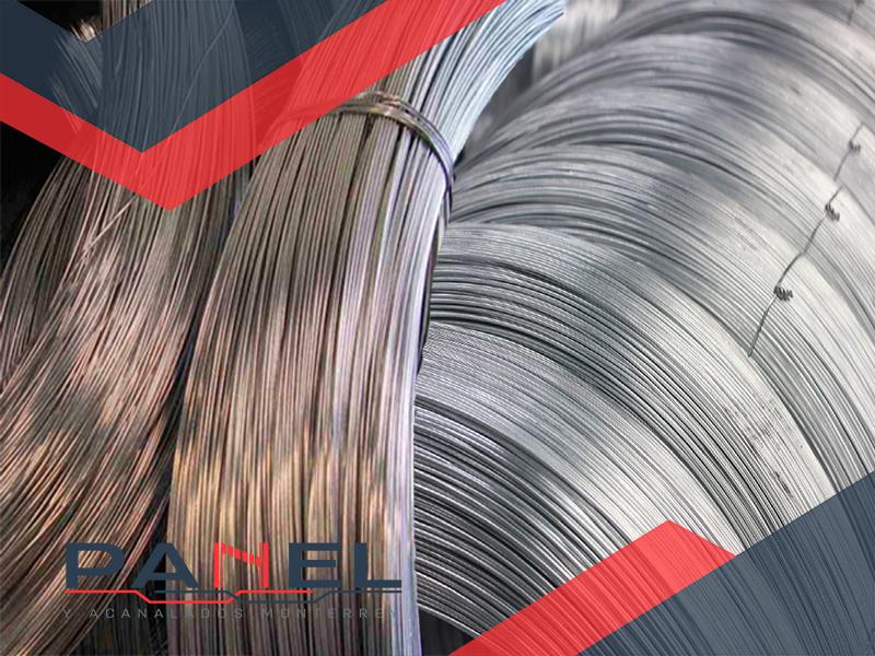 alambre pulido y galvanizado